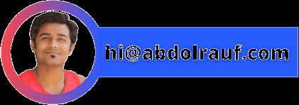 Abdol Rauf Header